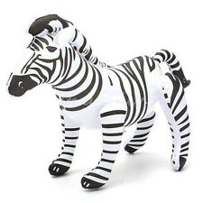 "New 20"" PVC Inflatable Giant Zebra Blow Up African Animal Themed Party Toy New"