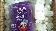 100 GLADE PLUGINS SCENTED OIL SWEET TREAT WINTER HOLIDAY PLUS WARMER FREE SHIP