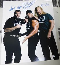 Hulk Hogan Kevin Nash Scott Hall Signed NWO 16x20 Photo PSA/DNA WWE WCW Picture