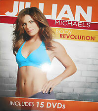 Jillian Michaels Body Revolution DVD 2012 15-Disc Set Fitness Weight Loss System