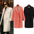 Women Winter Warm Wool Long Slim Fit Coat Jacket Trench Parka Overcoat Outwear