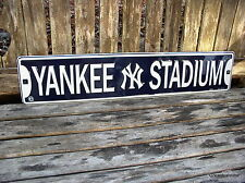 NY NEW YORK YANKEES YANKEE STADIUM STREET SIGN METAL MAN CAVE DECOR SIGN NEW
