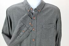 Obey Propoganda Long Sleeve Button Up Shirt Gray XL