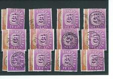 wbc. TV LICENCE STAMPS - C3 & C4 -  Wholesale - 12  pairs -  COLOUR - used