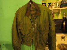 VINTAGE ORIGINAL  US NAVY BUWEP JACKET SUIT FLYING WINTER WEP 1963 SIZE 44 REG.