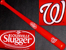 "WASHINGTON NATIONALS~NEW MINI 18"" SOUVENIR LOUISVILLE SLUGGER RED BASEBALL BAT"