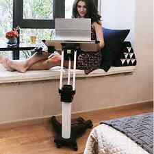 Mobile laptop desk Rolling Cart Pad Table Stand Computer Workstation