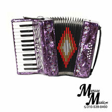 ROSSETTI PIANO ACCORDION 25 KEYS 12 BASS PURPLE  ACORDION