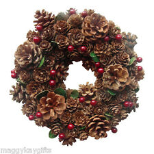 Enchante Pine Cone & Berry Christmas - Wreath - Garland - Decoration - 22 cm