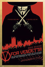 V FOR VENDETTA MOVIE (LAMINATED) POSTER (61x91cm) HUGO WEAVING NEW LICENSED