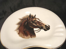 Vintage...Porcelain...Painted....Horse..Head...Ashtray.....Japan