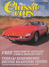 Classic Cars 11/1988 featuring Porsche 914/6, Riley, Sunbeam Alpine, Triumph