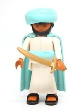 Playmobil Figure Arab Warrior Turban Cape Gold Sword Sandals Special 4521 RARE