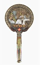 Egyptian Hand Mirror - Goddess Winged Isis with Scarab Vanity Mirror home decor