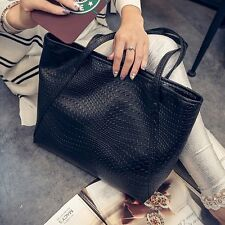New Women PU Leather Tote Shoulder Bags Purse Hobo Handbag Satchel Messenger Bag