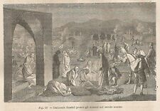 A1678 Cerimonie funebri Armene - Xilografia - Stampa Antica del 1895 - Engraving