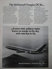 1-5/1974 PUB MCDONNELL DOUGLAS AVION DC-10 TRIJET AIRLINER AIRLINES ORIGINAL AD