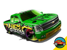 Hot Wheels Cars - Chevy Silverado Green