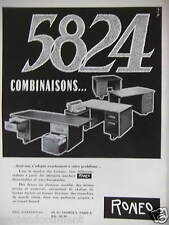 PUBLICITÉ 1959 RONEO 5824 COMBINAISONS - ADVERTISING