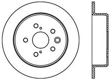 Disc Brake Rotor-Premium Rotor Centric 120.44142CRY fits 06-09 Lexus IS250