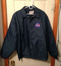 Vintage Birdie Medium Duty Utility Jacket Navy Blue NASA Space Shuttle XL
