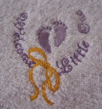 """"""" EMBROIDERED BABY  WELCOME  HOODED BATH TOWEL""""100% COTTON"""