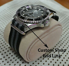 CUSTOM STRAP END LINK FITS ROLEX VINTAGE WATCHES SUB 5513, 1680 AND GMT 1675