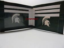 HANDMADE DUCT TAPE WALLET WITH THE MICHIGAN STATE LOGO ON IT