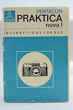 ORIGINAL PENTACON PRAKTICA NOVA I CAMERA INSTRUCTION MANUAL