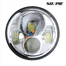 """Chrome 5-3/4"""" LED Headlight 5.75'' Daymaker Motorcycle Projector Lamp For Harley"""