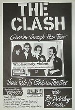 Music Poster Reprint The Clash 'Give 'em enough Rope Tour'
