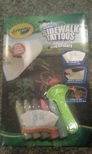Crayola Sidewalk Chalk tattoos - Washable - New- Kids Summer fun