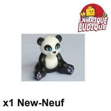 Lego - 1x Animal Panda Sitting noir/black 16674c01pb01 NEUF