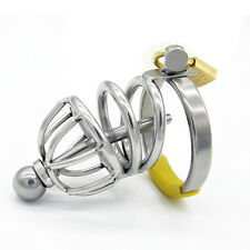Male Stainless Steel Chastity Device Cage Locking A065
