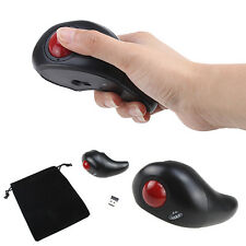 2.4GHz USB Wireless Handheld Trackball Optical Mice Mouse For PC Laptop Desktop