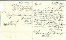 * 1839 SHAFTESBURY PENNY POST & No 7 R/HOUSE W BURGE LETTER EX STALBRIDGE DORSET