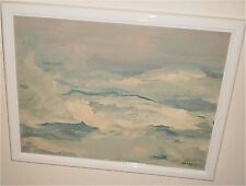 Ocean Waves Seascape Oil Painting-1950s-Armando Sozio-Listed New Jersey Artist
