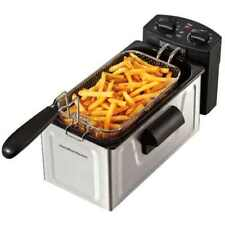 Hamilton Beach 2 Liter Professional Deep Fryer Electric Stainless Steel Black