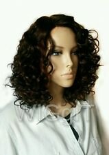 KENDRA | BROWN | DEEP PART | MEDIUM CURLY SYNTHETIC LACE FRONT WIG| SENSATIONNEL