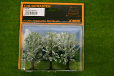 PLUM TREES IN BLOSSOM 3 per pack 3 inches Gaugemaster HO/OO Scale GM181