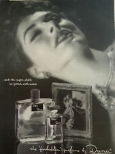 1954 Dana Tabu Forbidden Perfume Bottle Night Filled with Music Red Lips Pint Ad