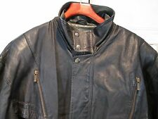 WILSON'S LEATHER BLACK Mens Motorcycle Jacket XL Detachable Lining Thinsulate 3M