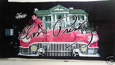 Elvis Presley  Retro Pink Cadillac Car Beach Bath Towel 30x60