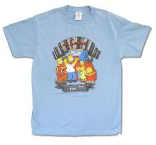 The Simpsons Dysfunctional Fun Men's Light Blue T Shirt New Official M