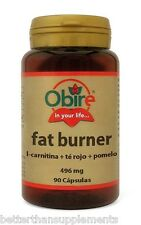 Obire fat burner 496mg L-carnitine & red tea & grapefruit - lose weight 90caps.