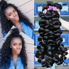 200G/4 Bundles Brazilian Human Hair Weave Weft Virgin Loose Wave Hair 10x4