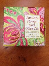 NEW PASSION FLOWER AND OLIVE OIL SHEA BUTTER SPA SOAP 6.35 OZ GREENWICH BAY SOAP