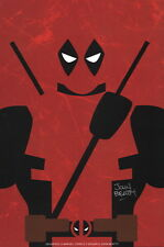 John Beatty SIGNED Marvel Comics Print ~ Deadpool Silhouette Pop Art X-Men