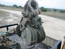 "1 Used 8"" Dual Sheave Snatchblock SWL 12-Ton Crosby, 7/8""WR,for Military Wrecker"