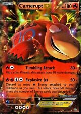 CAMERUPT EX 29/160 PRIMAL CLASH SET POKEMON SUPER RARE CARD
